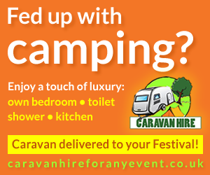 Caravan hire offer for Malvern Three Counties Showground